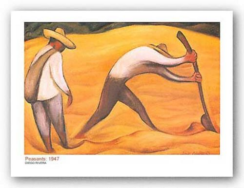 Peasants, 1947 by Diego Rivera