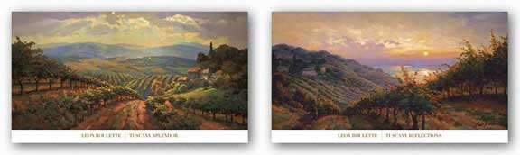 Tuscany Reflections and Tuscany Splendor Set by Leon Roulette