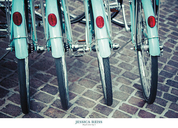Bicycle Line Up 1 by Jessica Reiss