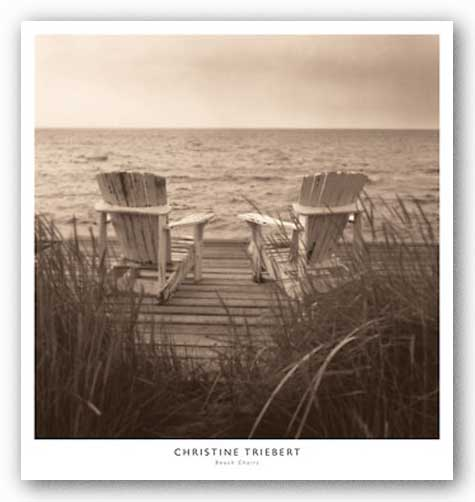 Beach Chairs by Christine Triebert