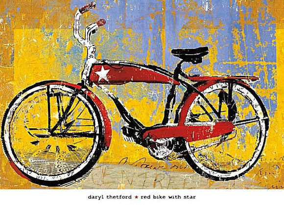 Red Bike with Star by Daryl Thetford