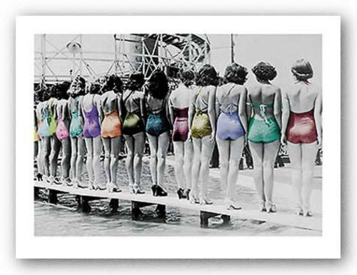 Coney Island Line Up, 1935 - Swimsuits