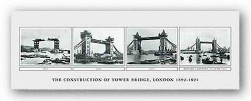 The Construction Of The Tower Bridge, London, 1892-1894
