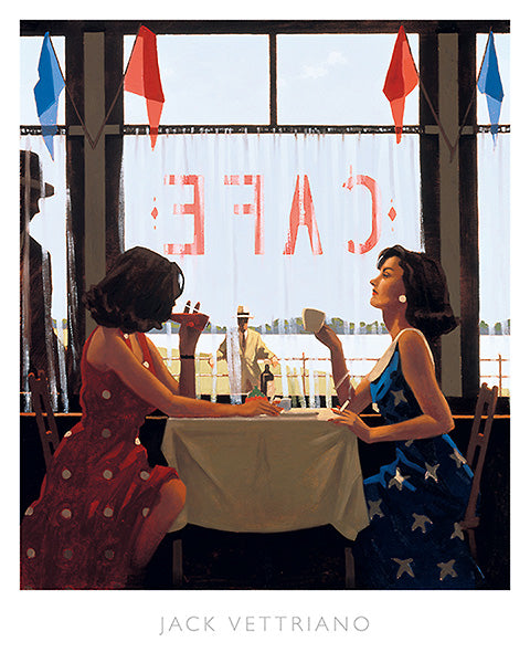 Cafe Days by Jack Vettriano