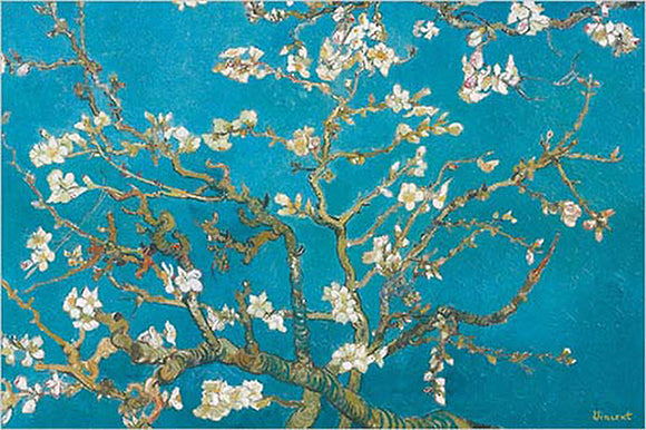 Almond Branches in Bloom, San Remy detail by Vincent Van Gogh