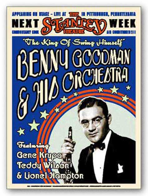 Benny Goodman by Reproduction Vintage Poster
