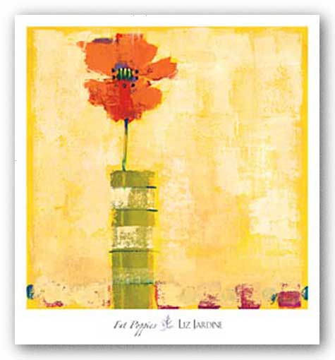 Fat Poppies I by Liz Jardine