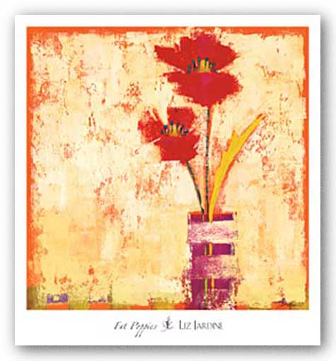 Fat Poppies II by Liz Jardine