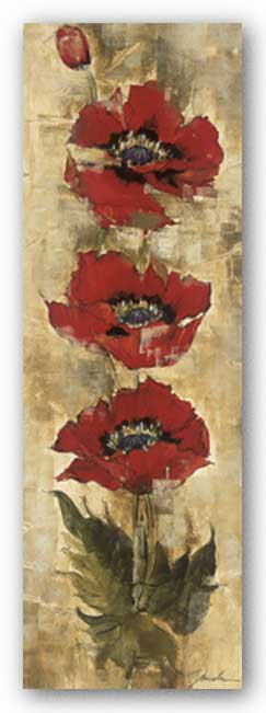 Strand of Poppies I by Liz Jardine