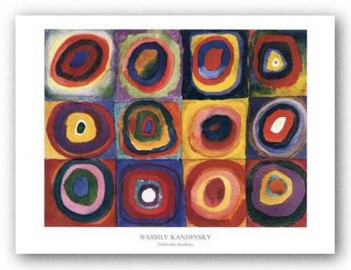Farbstudie Quadrate (Squares with Concentric Rings) by Wassily Kandinsky