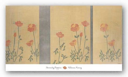 Serenity Poppies - Metallic Ink by Rebecca Koury