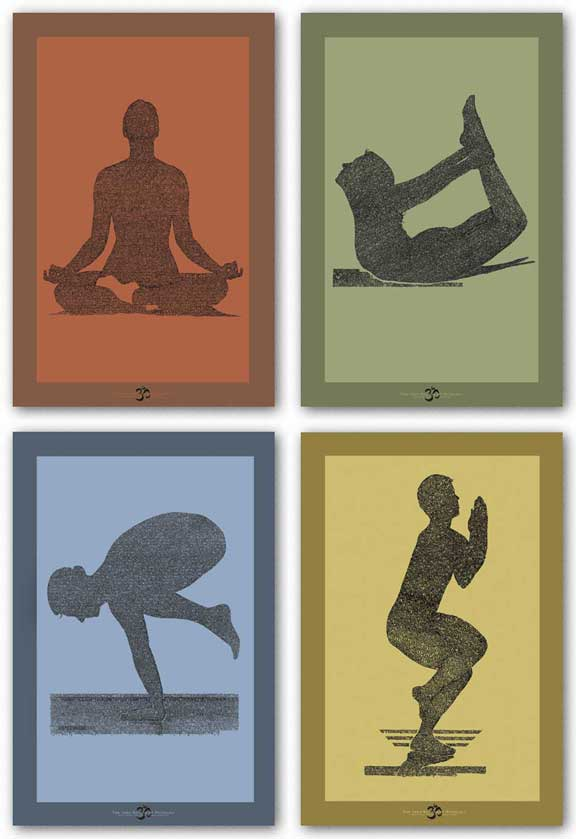 The Yoga Sutras of Patanjali Set (Four Prints) by L.A. Pop Art