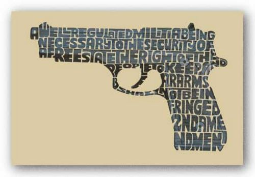 Right to Bear Arms by L.A. Pop Art