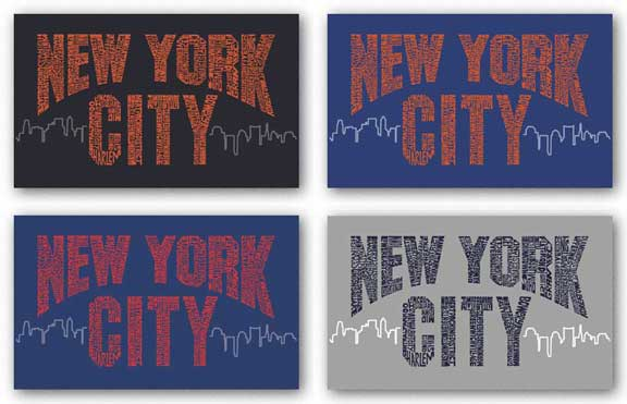 New York City Boroughs Set by L.A. Pop Art