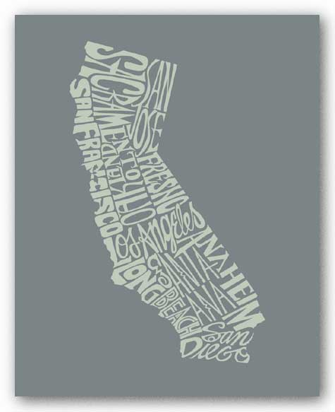 California I by L.A. Pop Art