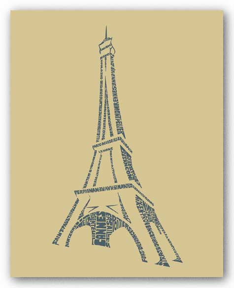 Paris I by L.A. Pop Art
