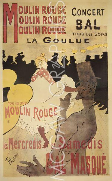 Moulin Rouge/La Goulue by Henri de Toulouse-Lautrec