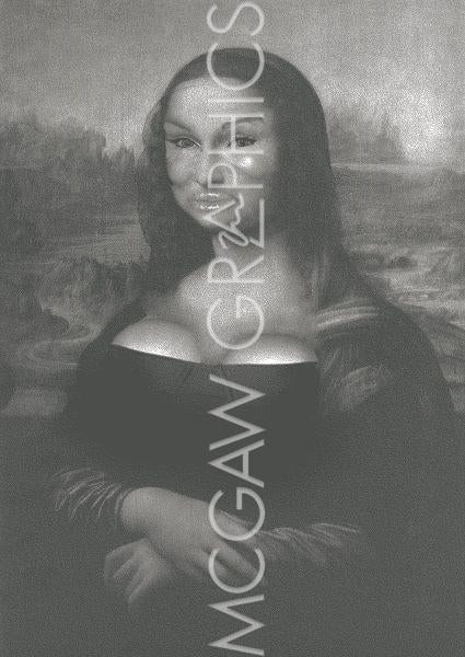 Restoration (Mona Lisa with bad Plastic Surgery) by Jason Laurits