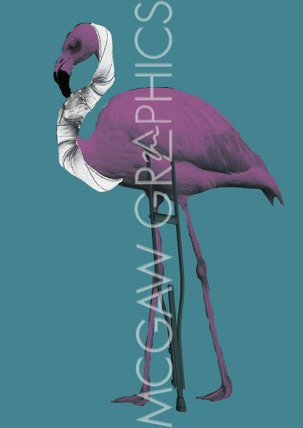 Flamingo (on Crutch) by Jason Laurits