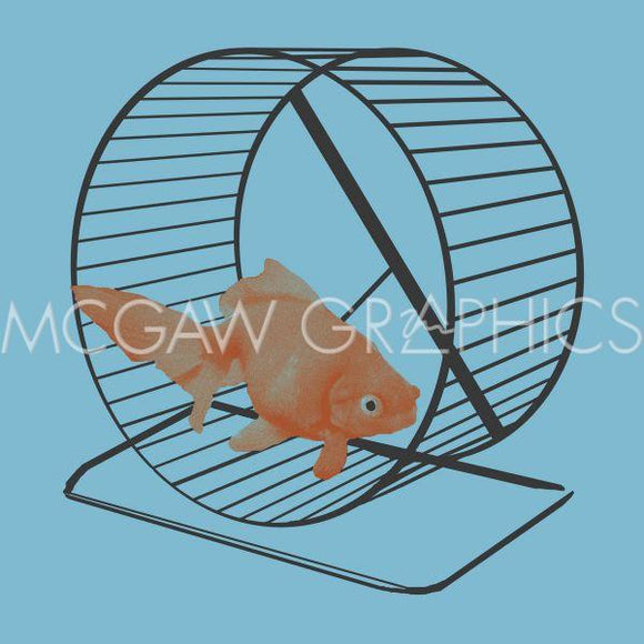Goldfish (on Hamster Wheel) by Jason Laurits
