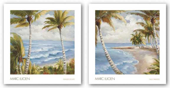 Palm Paradise and Seaside Escape Set by Marc Lucien