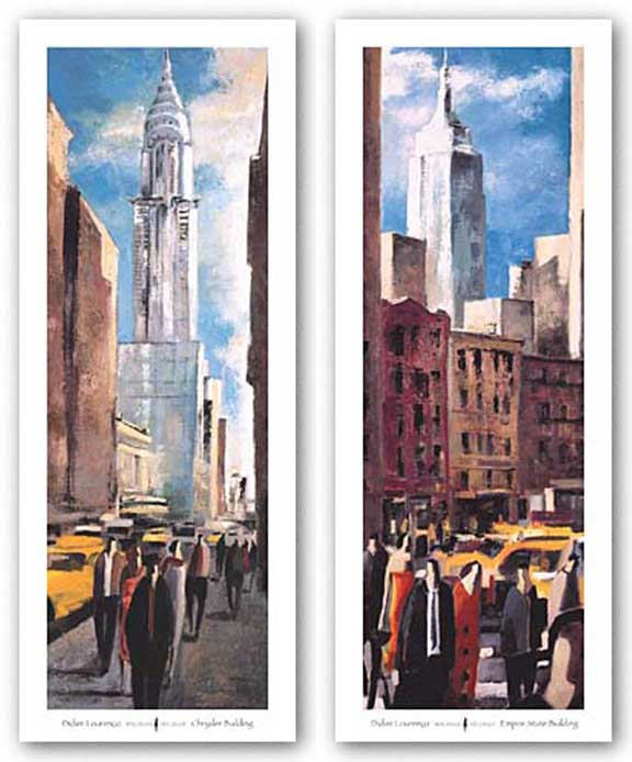 Empire State Building and Chrysler Building Set by Didier Lourenco