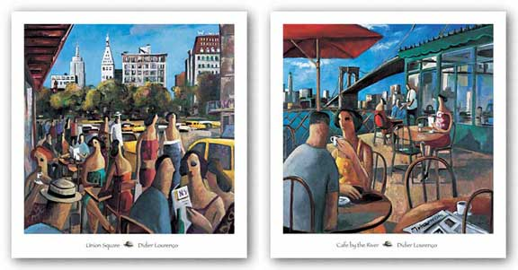 Cafe by the River and Union Square Set by Didier Lourenco