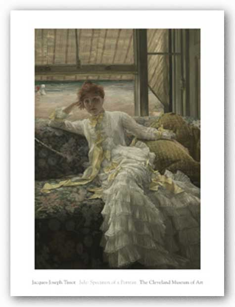 July: Specimen of a Portrait, c.1878 by Jacques-Joseph Tissot