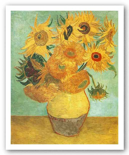 Sunflowers on Blue, 1888 by Vincent Van Gogh