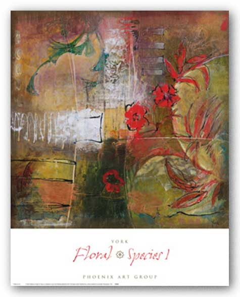 Floral Species I by Josiane York
