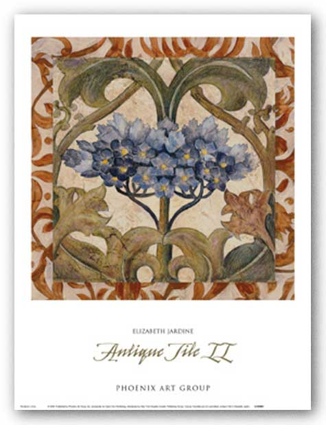 Antique Tile II by Liz Jardine