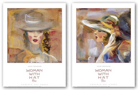 Woman with Hat Set by John Douglas