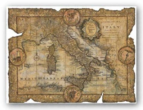 Map of Italy by John Douglas