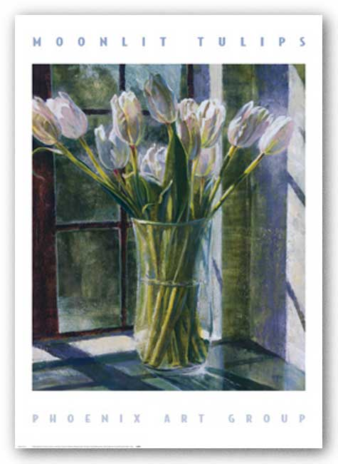 Moonlit Tulips by P. Moss