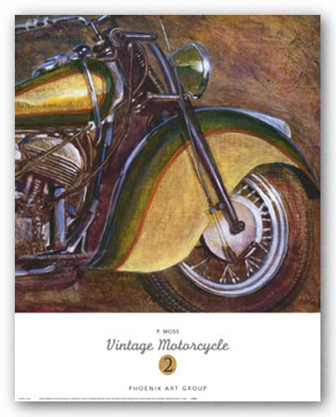 Vintage Motorcycle 2 by P. Moss
