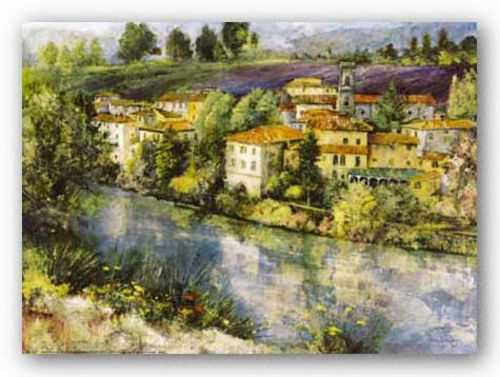 Village on the Arno by Dennis Carney