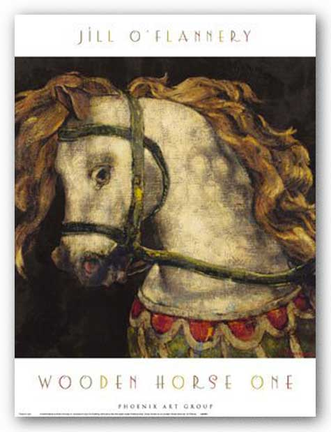 Wooden Horse One by Jill O'Flannery