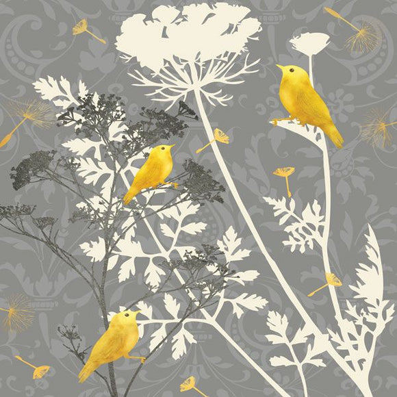Gray Meadow Lace I by Jill Meyer