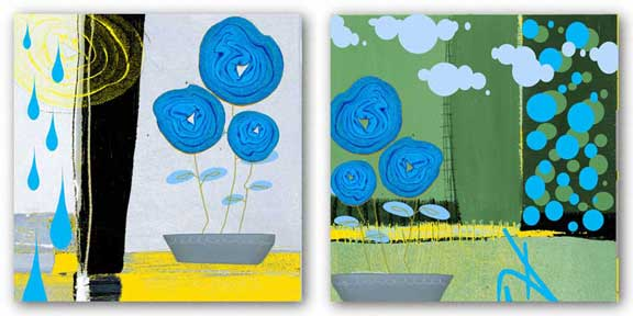 Blue Roses Set by Miguel Paredes