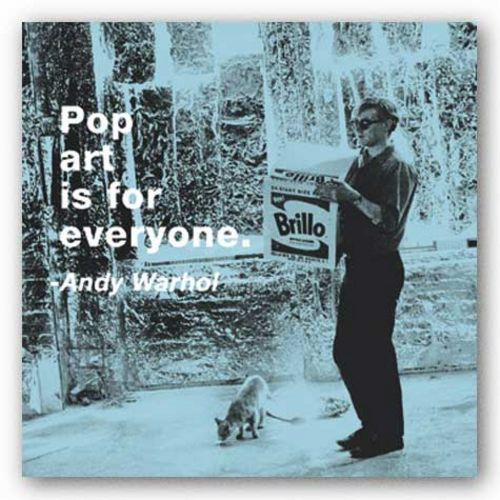 Quotes: Pop art is for everyone (Color Square) by Andy Warhol