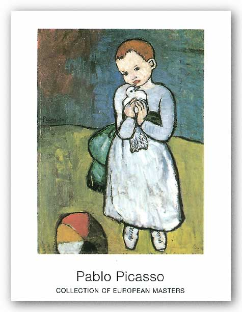Kind Mit Taube 1901 by Pablo Picasso