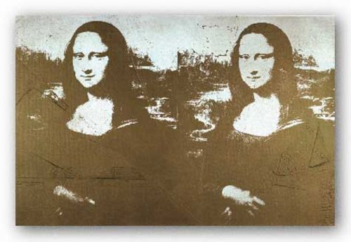 Two Golden Mona Lisas - Large by Andy Warhol