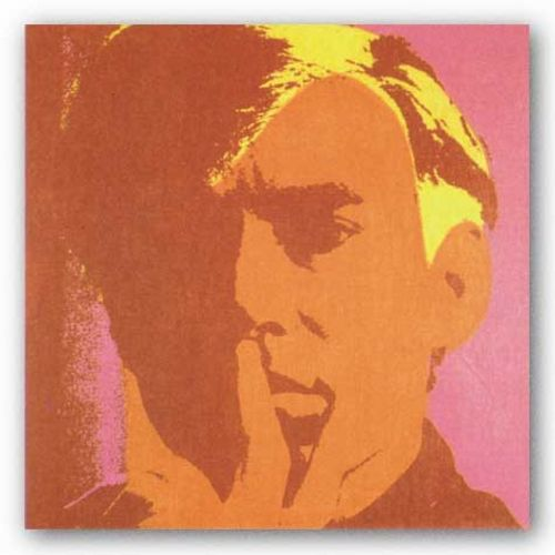 Self Portrait - Orange by Andy Warhol