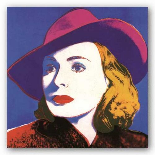 Ingrid with Hat - Large by Andy Warhol