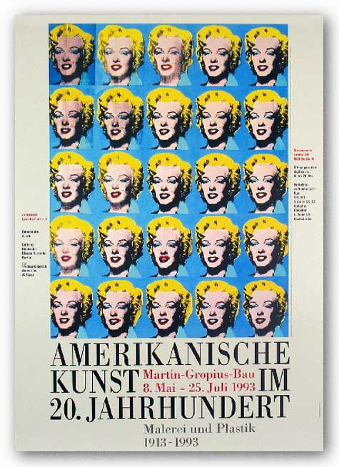 25 Colored Marilyns by Andy Warhol