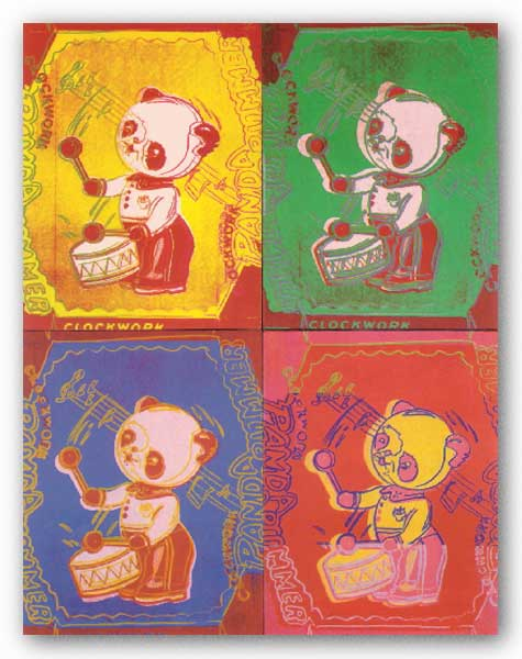 Four Pandas, 1983 - Large by Andy Warhol