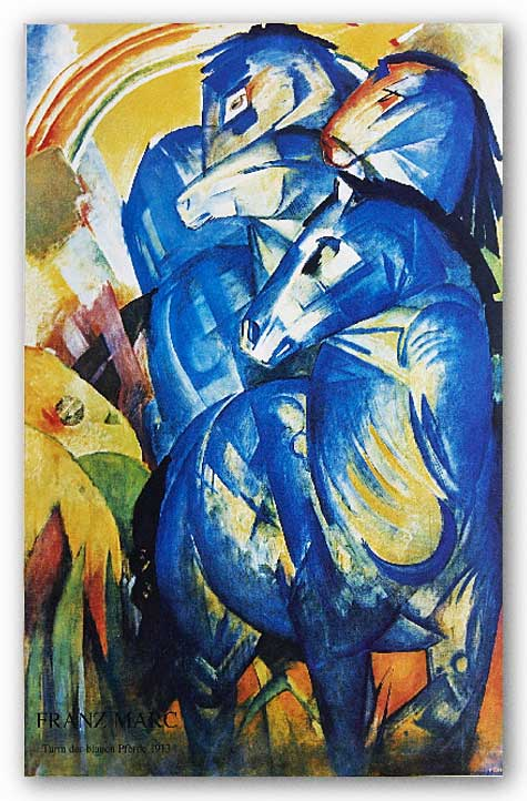 Group of Horses by Franz Marc