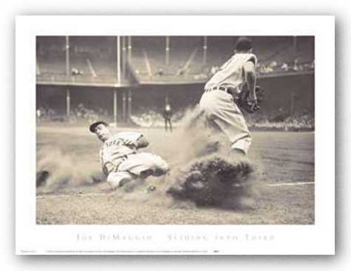 Joe Dimaggio Sliding Into Third by Corbis-Bettmann