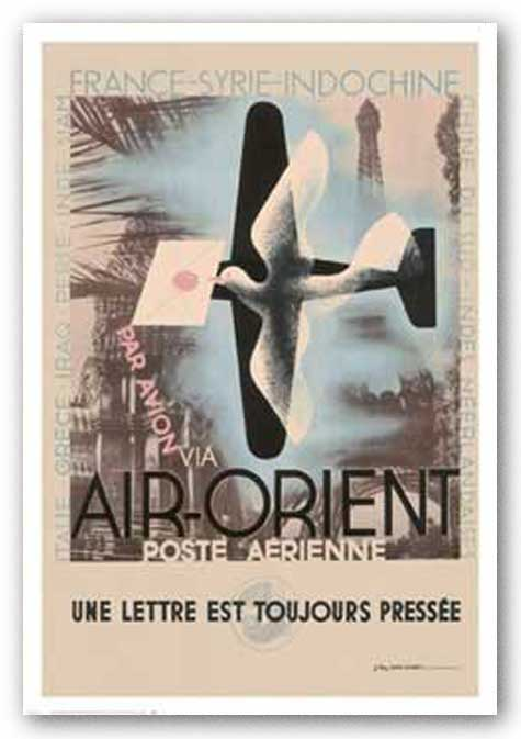 Air-Orient by Reproduction Vintage Poster