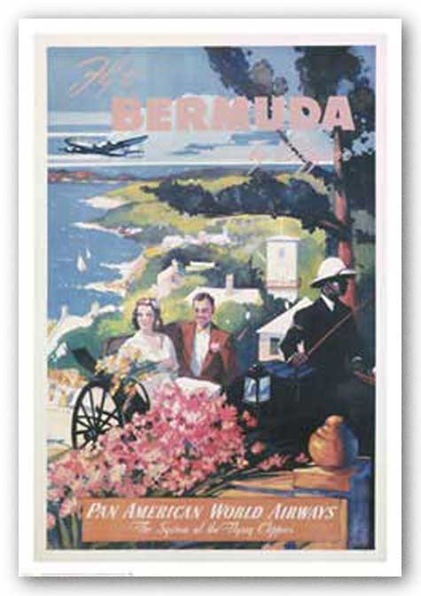 Bermuda By Clipper by Reproduction Vintage Poster